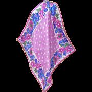 Gorgeous Vera Neumann Silk Scarf Pink Purple Polka Dots