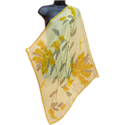 Vintage Sheer Silk Chiffon Vera Neumann Scarf Dragonflies