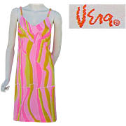 Rare Vintage  Vera Neumann Slip or Nightgown Psychedelic Colors Medium