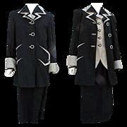 Rare 3 Piece 1940s Women's Suit Top Coat, Jacket, Skirt, Size Large Minty