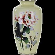 Vintage Japanese Ando Cloisenne Peony Vase