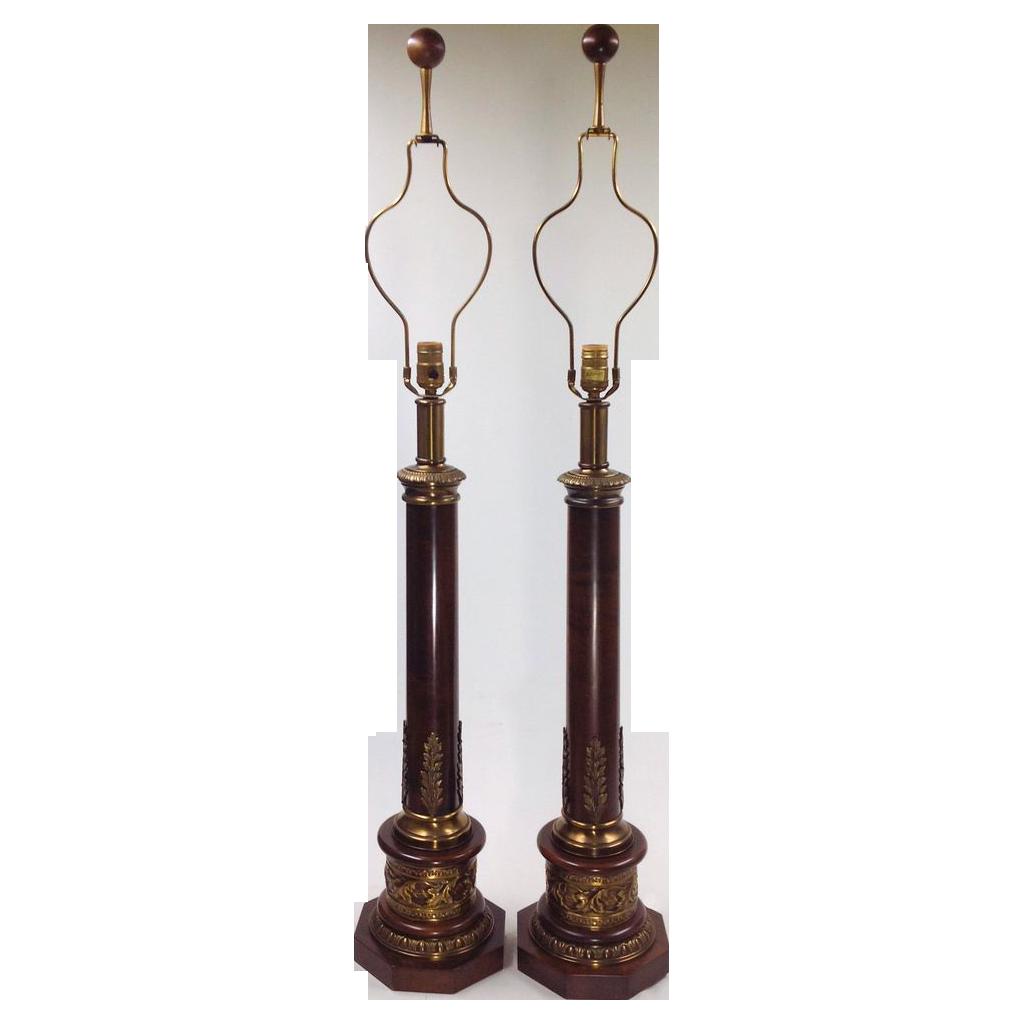 Vintage Paul Hanson Lamps - Tall Wood