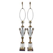 Vintage Paul Hanson Lamps - Cut Glass