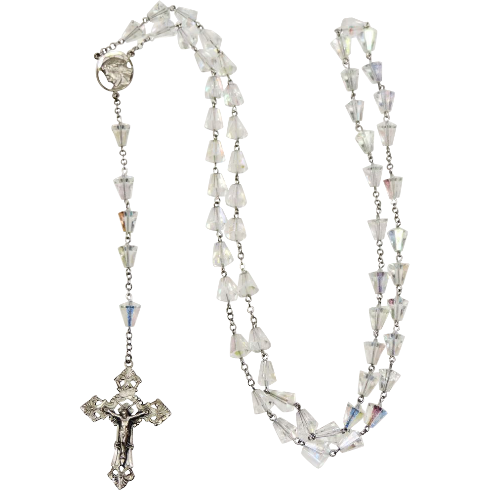 Vintage Sterling Silver & Crystal Rosary - CHAPEL