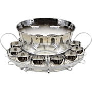 Dorothy Thorpe Silver Fade Punch Set