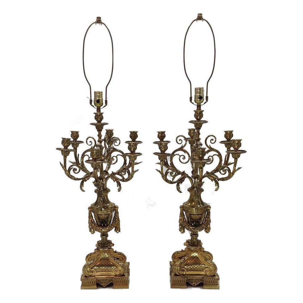 Pair Napoleon III French Candelabras