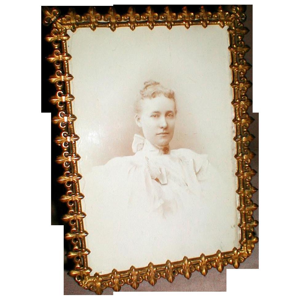 Lovely Antique Brass Photograph Frame