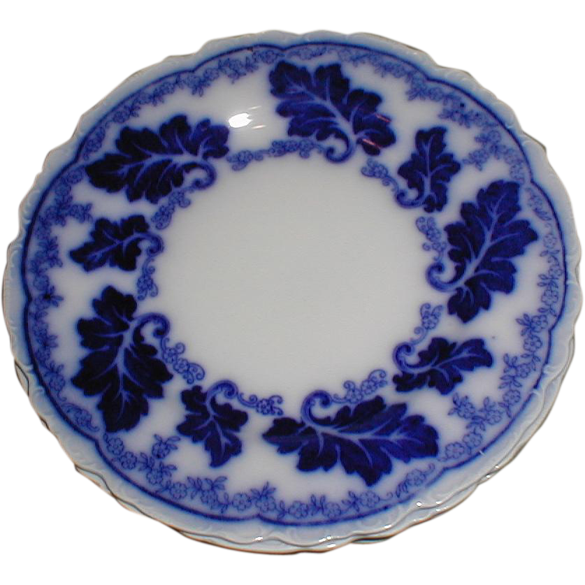 """Lovely 7"""" Flow Blue  Plate NORMANDY Johnson Bros. England"""