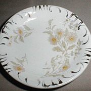 Lovely Transferware Butterpat Yellow Daisy Gilded