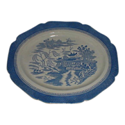 Huge English Blue Mandarin Platter, Unusual