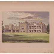 British Ancestral Home Xylography KNOWSLEY HALL F.O. Morris