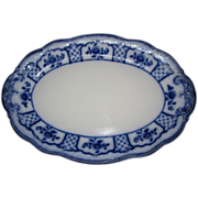 Lovely Antique Flow Blue Platter, Melbourne, W. H. Grindley 1900