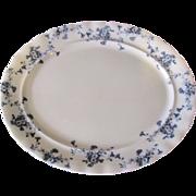 Lovely Flow Blue Platter (Large) Furnivals CARNATION c. 1890