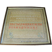 Wonderful Early 19th Century Sampler, Mary Jane Thompson