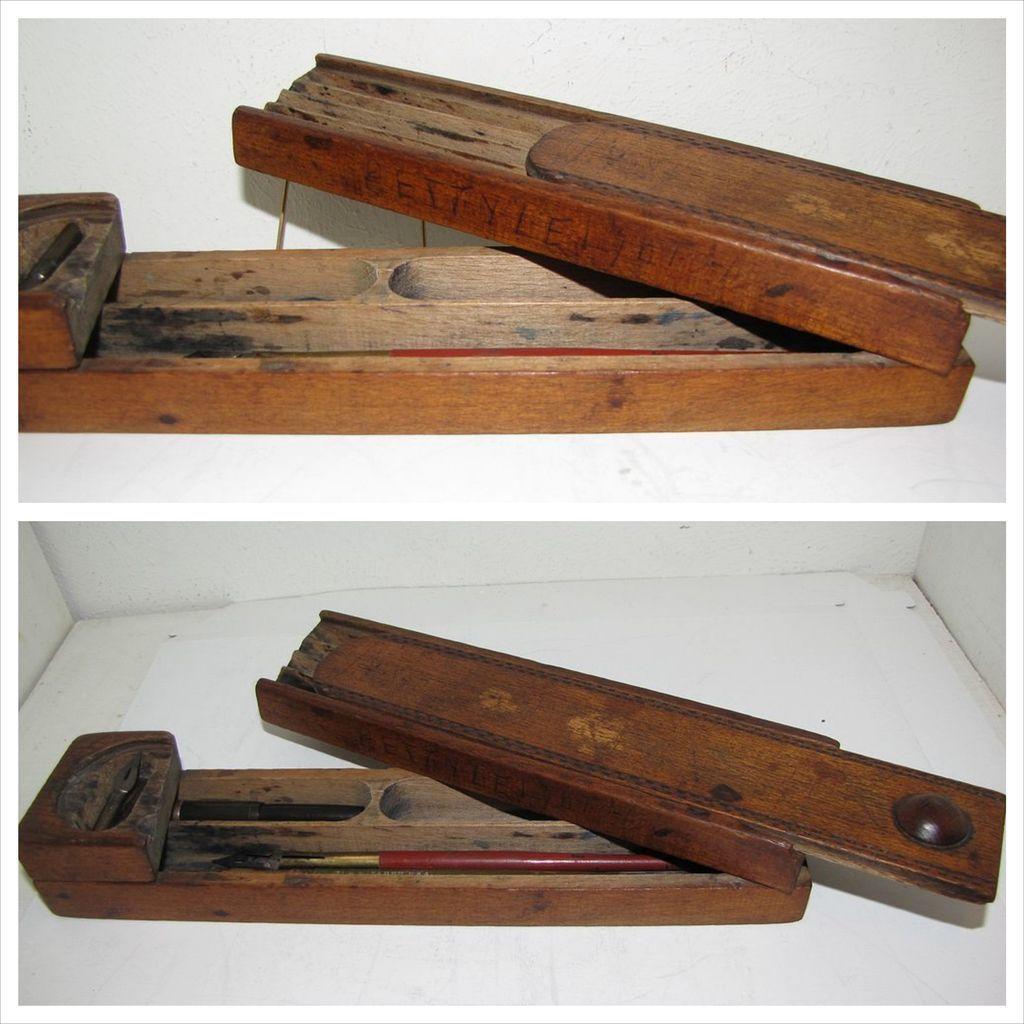 Most Unusual Treen (folk art) Pen/Pencil Box