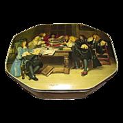 "Large British Biscuit Tin ""High Adventure"" W. & R. Jacob"
