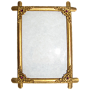 Lovely Antique Brass Table-Top Photograph Frame, Beaded