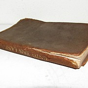 """Small Leather Bound Book, """"Unto This Last"""" by John Ruskin"""