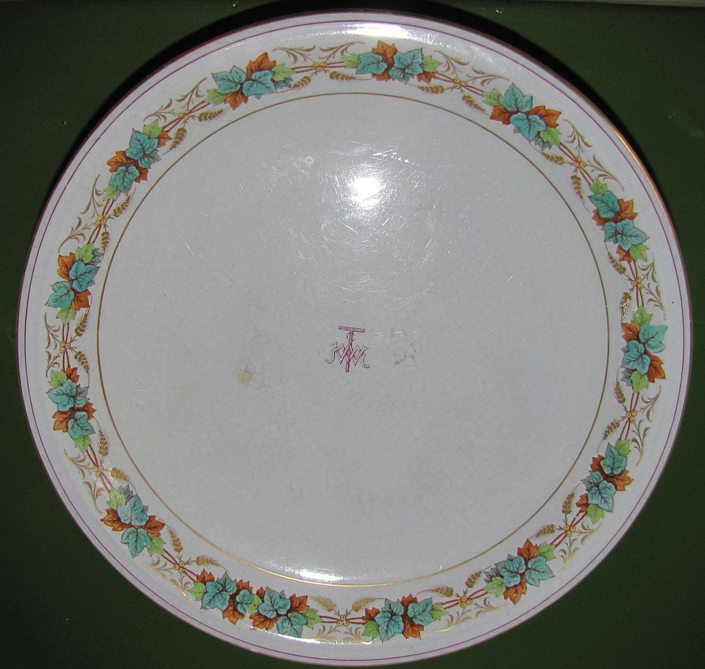 Early 19th Century Pedestal Cake Plate, IVY BORDER