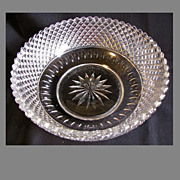Stunning EAPG Fruit Bowl, English Hobnail, Thumbprint, Star