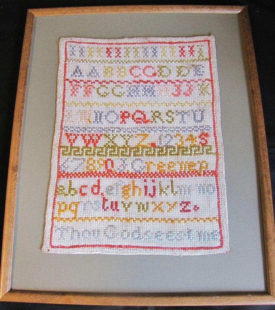 Nineteenth Century Alphabet Sampler, United Kingdom