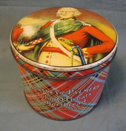 Vintage British Biscuit Tin, Huntley & Palmers, John O'Groats Shortbread