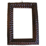 Antique 4-Layer Chip Carved Tramp Art Frame