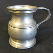 Vintage Bulbous Pewter Measure 1/2 Gill, Harry Mason