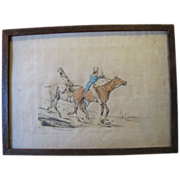 """C. 1821 Colored Engraving Henry Alken """"Symptoms of Things Going Down Hill"""""""