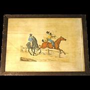 "C. 1821 Colored Engraving Henry Alken ""Preparing for the Easter Hunt"""