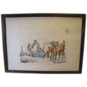 """C. 1821 Colored Engraving Henry Alken """"A Thing of Last Consequence"""""""