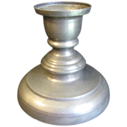 Vintage Single French Pewter Candle Stick, Not Marked.