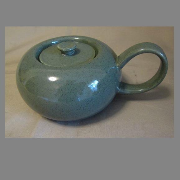 CEDAR GREEN American Modern Sugar Bowl w/Lid Russel Wright