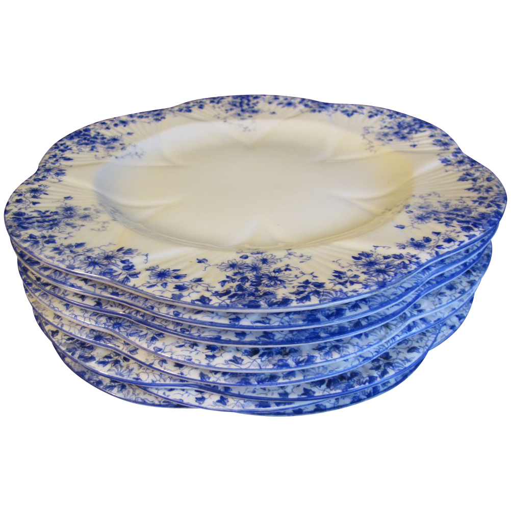 """Lovely Bone China Dinner Plate, DAINTY BLUE"""" by Shelley (8 Available)"""