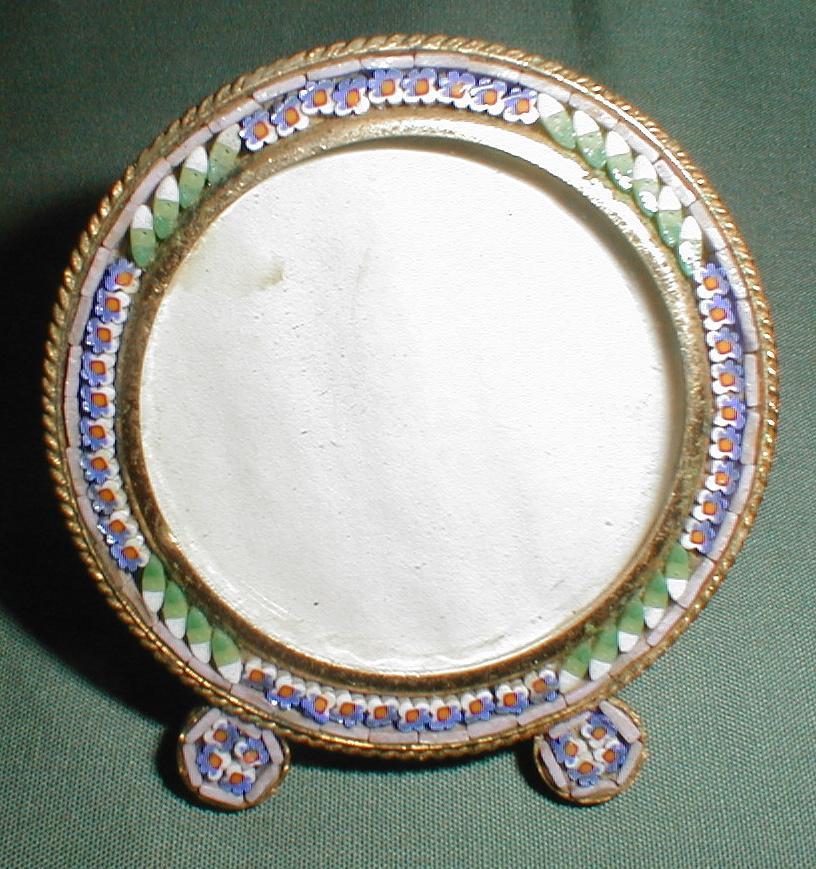 Small Round Italian Micro-Mosaic Photograph Frame