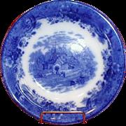 Flow Blue Vegetable Bowl COUNTRY SCENES