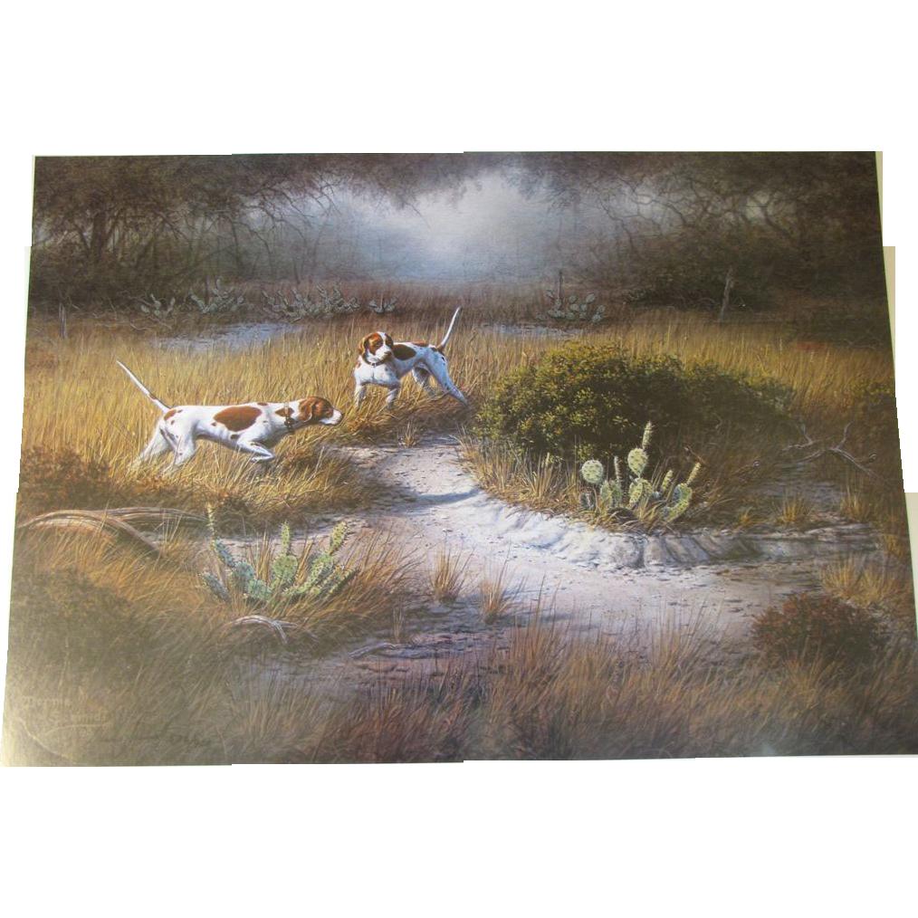 "1980 Limited Edition Print Dennis Schmidt ""Calling A Flush"""
