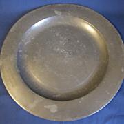 19th Century Pewter Plate, British w/Hallmarks