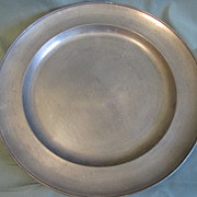 Vintage Pewter Charger Frieling Zinn, Germany, (2 Available)