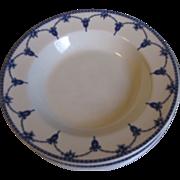 Lovely Vintage Blue & White Soup Bowl, KINGSTON, Keeling