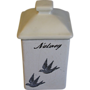 Highly Collectible Bluebird Spice Jar (Canister) NUTMEG