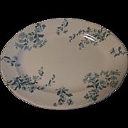 Very Nice Small Platter, CASTELAR, Green Transfer