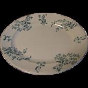 Vintage Transfer Printed Platter, Green, CASTELAR