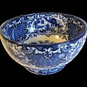 Lovely Flow Blue Round Bowl, ABBEY, George Jones