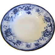 Pair of Flow Blue Small Soup Plates ELSIE Hulme & Christie