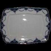 Lovely Rectangular Flow Blue Platter, NAPIER, Keeling & Co.