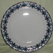 Lovely Flow Blue Plate, Keeling & Sons, MATLOCK