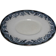 Lovely Small Oval Flow Blue Underplate (Tray), Unmarked