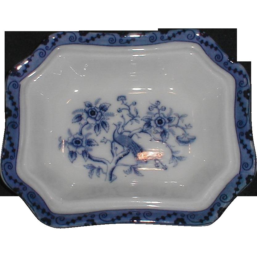 Pair of Flow Blue Bowls, CANTON, England, CA. 1890-1900