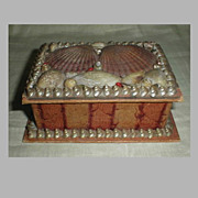 Lovely Victorian Sea Shell Box
